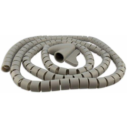 Schwaiger Gmbh - Kabelspiralschlauch (Ø 28 mm) - Farbe:Grau