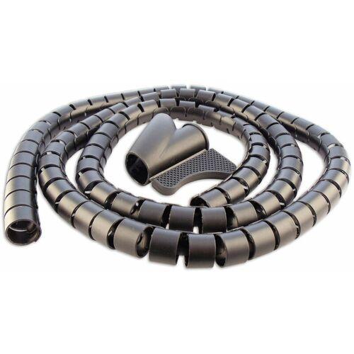 Schwaiger Gmbh - Kabelspiralschlauch (Ø 28 mm) - Farbe:Schwarz