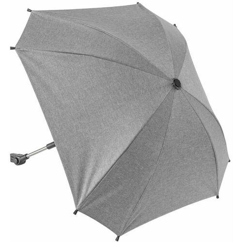 REERGMBH reer ShineSafe Kinderwagen-Sonnenschirm, Sonnen Schirm, Sonnenschutz, UV Schutz, Kinderwagen, Grau Melange, 84181