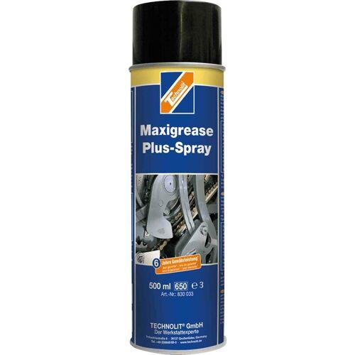 TECHNOLIT Maxigrease Plus Spray 500 ml, Fettspray, haftstark, verschleißarm, Langzeitschmierfett - Technolit