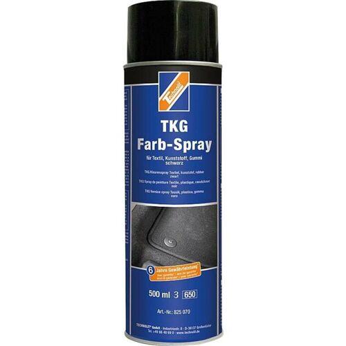 TECHNOLIT TKG-Farbspray 500 ml, für Teppich, Kunststoff, Gummi, Textil, Fußmatten - Farbe:schwarz - Technolit