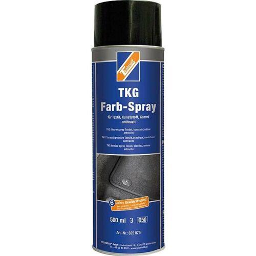 TECHNOLIT TKG-Farbspray 500 ml, für Teppich, Kunststoff, Gummi, Textil, Fußmatten - Farbe:anthrazit - Technolit