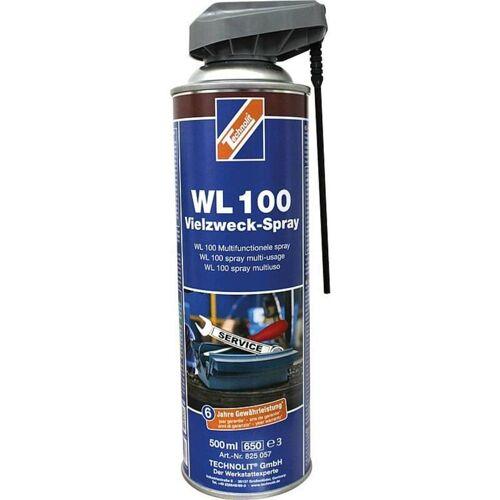 TECHNOLIT Vielzweckspray WL 100 500 ml, Multispray, Rostlöser, Pflegespray, Kontaktspray, Universalöl - Technolit