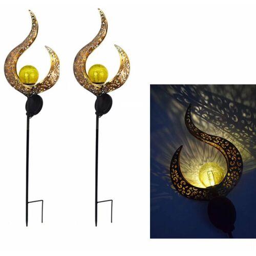 Perle Rare Solarlampen im Freien, Solarlampen für Rasen, Gartenlampen und Landschaftslampen 2 Stück
