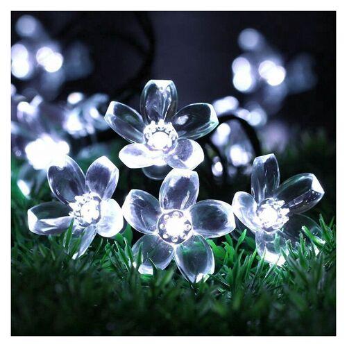 Thsinde - Solar Lichterkette Außen Blumen, 100LED Solar Lichterkette Aussen , Wasserdicht Solarlichterkette für Garten Deko, Balkon, Bäume, Terrasse,