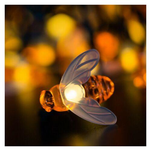 Dontodent - Solar Lichterkette Garten,9.5m 50 LEDs Solar Bienen Lichterkette LED Solarlichterkette wasserdicht Solar Lichterkette Aussen für Garten