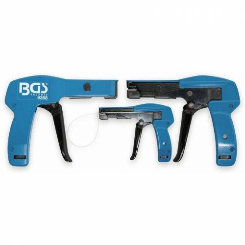 BGS TECHNIC Kabelbinder-Spannpistole, BGS 9368, 2,4…4,8 mm, blau