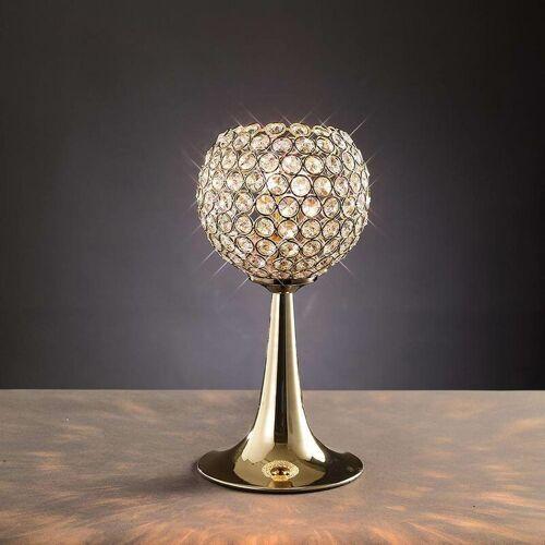 09-DIYAS Ava Tischlampe 2 Lampen Gold / Kristall