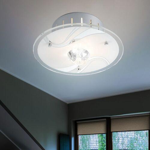 ETC-SHOP Design LED 1,9 Watt Leuchte Decken Lampe Beleuchtung Kristalle Glas Metall DIAMANTIS