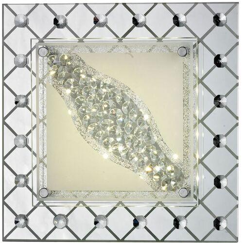 ESTO 13 Watt LED Decken Wand Glas Lampe 1-flg eckig Kristall Wohnzimmer Beleuchtung A+ Esto 748037