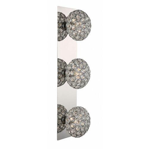 Etc-shop - Kristall Wandleuchte silber Kristall Deko Kugel Wohnzimmer Wandlampe, Lichteffekt Metall silber, 3x G9, L 11 cm