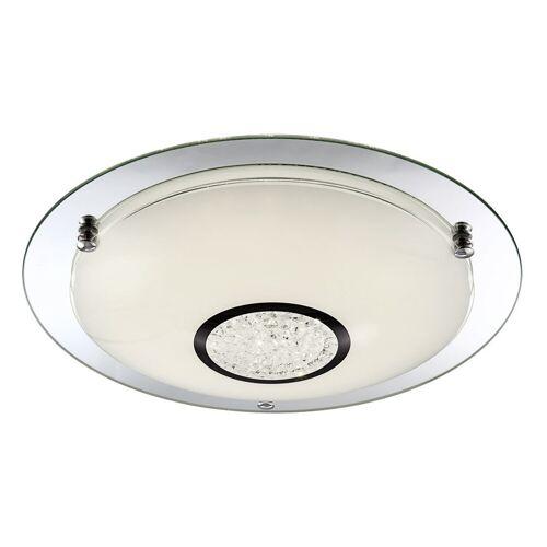 Globo - LED Deckenlampe Deckenleuchte Kristalle Glas Chrom D 41,5 cm Wohnzimmer Küche