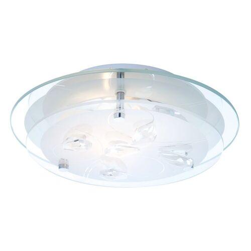 ETC-SHOP LED 7 Watt Decken Lampe floral Beleuchtung Wohnzimmer Kristalle klar IP20 A+