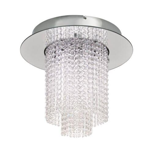 EGLO LED Kristall Deckenlampe Vilalones 10-flg. Chrom, Klar