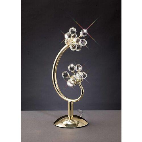 09-DIYAS Octavia Tischlampe 2 Lampen Gold / Kristall