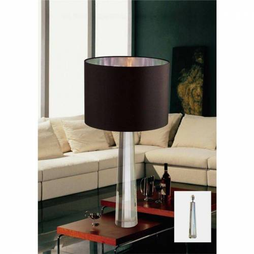 09-DIYAS Tischlampe Tia 1 Glühlampe Silber / Kristall