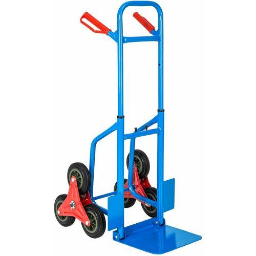 NO_BRAND Treppensackkarre bis 100kg - Transportwagen, Treppensteiger, Treppensackkarre - blau