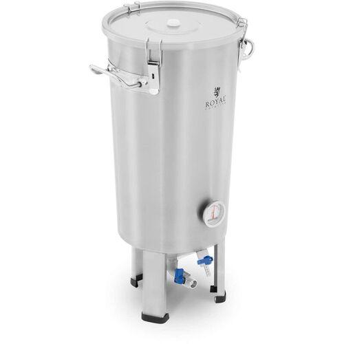 ROYAL CATERING Maischekessel 20 l 0 - 40 C Edelstahl Fermenter Fermentierkessel
