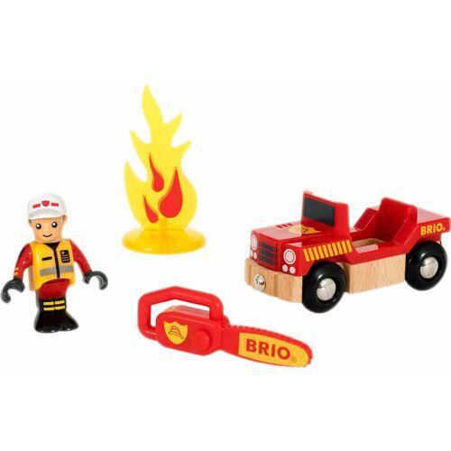 BRIOGMBH BRIO Spielpäckchen Feuerwehr, 4-tlg., Feuerwehrauto, Kinderspielzeug, Holz Spielzeug, 33876