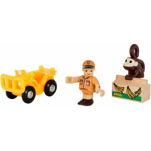 BRIOGMBH BRIO Spielpäckchen Safari, 4-tlg., Geländefahrzeug, Auto, Kinderspielzeug, Spielzeug, 33865