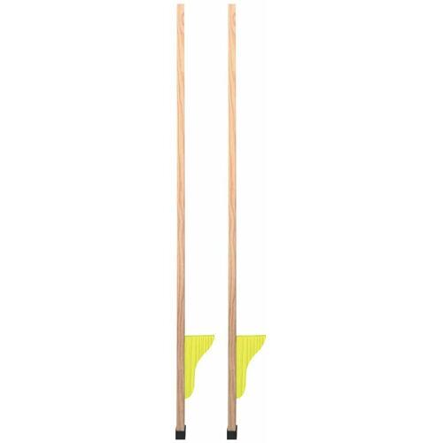XQ MAX Stelzen aus Holz, 120 cm, 2 Stück, gelb
