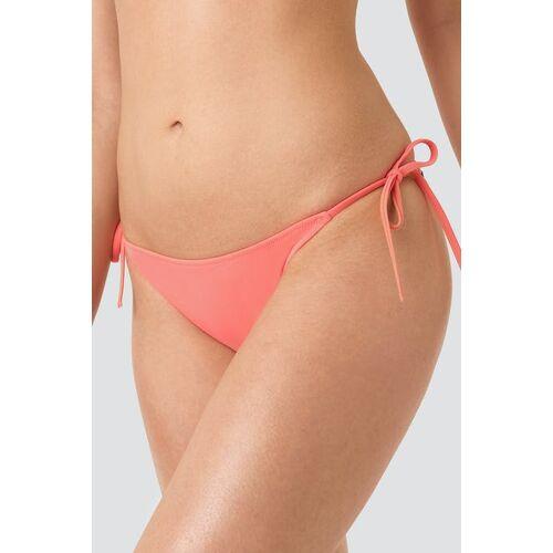 NA-KD Cheeky String Side Tie Bikini Flamingo Flamingo xs red female