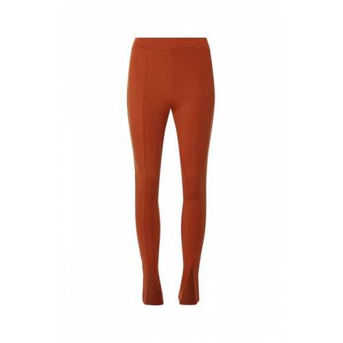 NA-KD Front Slit Jersey Pants Terracotta Terracotta xs red female