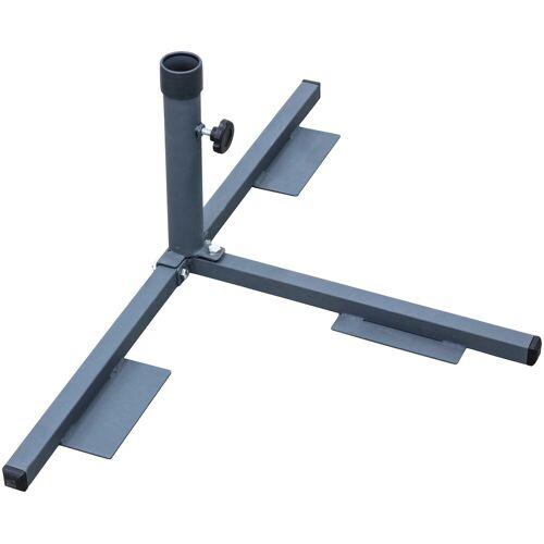 Schneider Schirme Plattenständer, ohne Wegeplatten Einheitsgröße grau Plattenständer Sonnenschirmständer Garten Balkon