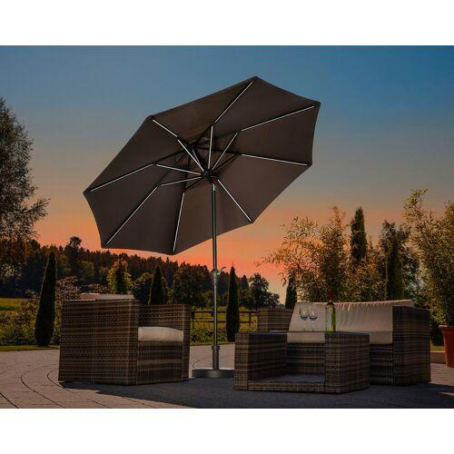 Schneider Schirme Sonnenschirm Blacklight it, ohne Schirmständer Einheitsgröße grau Sonnenschirme -segel Gartenmöbel Gartendeko