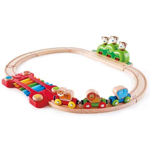 Hape Spielzeug-Eisenbahn Kleines Tier-Eisenbahnset, aus Holz Einheitsgröße bunt Kinder Holzspielzeug