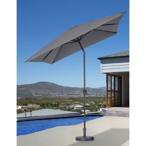 garten gut Sonnenschirm, abknickbar, ohne Schirmständer 300x200 cm grau Sonnenschirm Sonnenschirme -segel Gartenmöbel Gartendeko