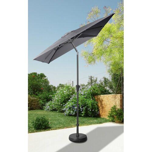 garten gut Sonnenschirm, abknickbar, ohne Schirmständer 230x160 cm grau Sonnenschirm Sonnenschirme -segel Gartenmöbel Gartendeko