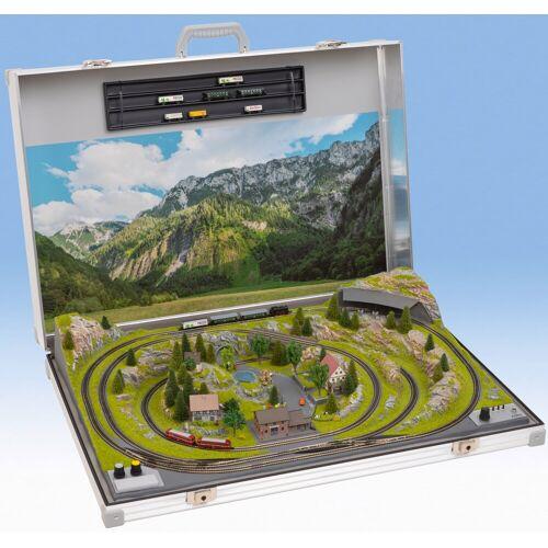 NOCH Modelleisenbahn-Set Modellbahnkoffer Meran, Made in Germany Einheitsgröße silberfarben Kinder Modelleisenbahn-Sets Modelleisenbahnen Autos, Eisenbahn Modellbau