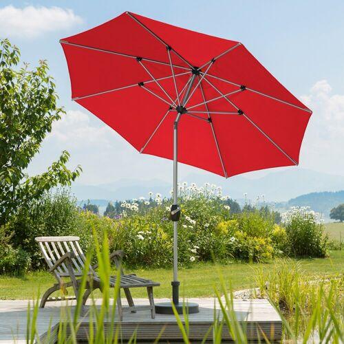 Schneider Schirme Sonnenschirm Venedig, ohne Schirmständer Einheitsgröße rot Sonnenschirme -segel Gartenmöbel Gartendeko