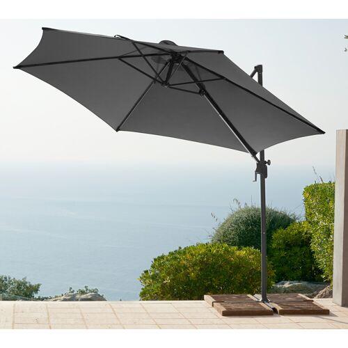 garten gut Ampelschirm, ohne Wegeplatten Einheitsgröße grau Ampelschirm Sonnenschirme -segel Gartenmöbel Gartendeko