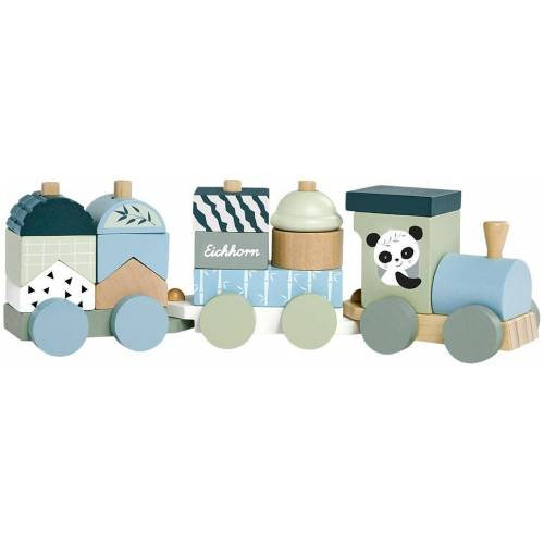 Eichhorn Spielzeug-Zug, aus Holz Einheitsgröße bunt Kinder Spielzeug-Zug Holzspielzeug