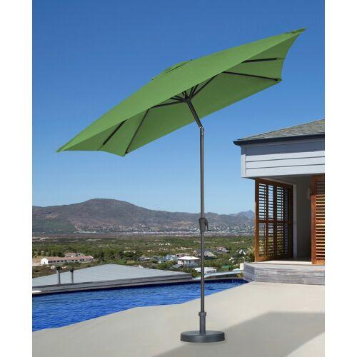 garten gut Sonnenschirm, abknickbar, ohne Schirmständer 300x200 cm grün Sonnenschirm Sonnenschirme -segel Gartenmöbel Gartendeko