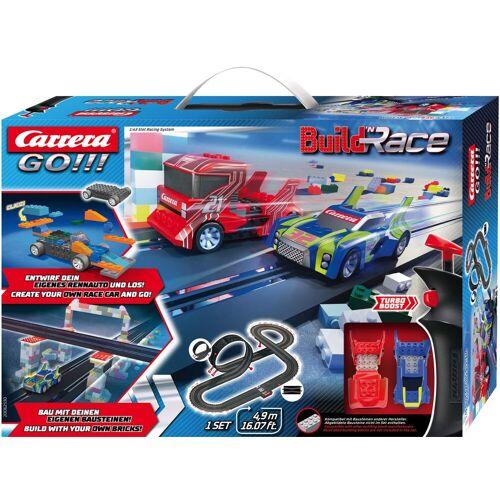 Carrera Autorennbahn GO - Build 'n Race Racing Set 4.9 Einheitsgröße bunt Kinder Autorennbahnen Autos, Eisenbahn Modellbau