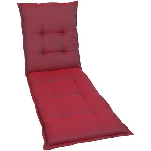 GO-DE Liegenauflage, 190 x 60 cm B/H: rot Liegenauflage Liegenauflagen Gartenmöbel-Auflagen Gartenmöbel Gartendeko