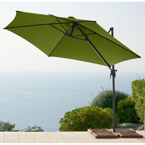 garten gut Ampelschirm, ohne Wegeplatten Einheitsgröße grün Ampelschirm Sonnenschirme -segel Gartenmöbel Gartendeko