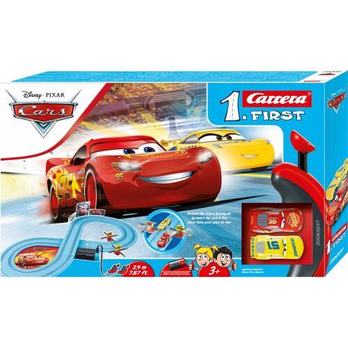 Carrera Autorennbahn First - Disney·Pixar Cars Race of Friends, (Set) Einheitsgröße bunt Kinder Autorennbahnen Autos, Eisenbahn Modellbau
