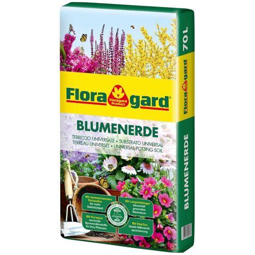 Floragard Blumenerde, 1x70 Liter 70 l braun Blumenerde Zubehör Pflanzen Garten Balkon
