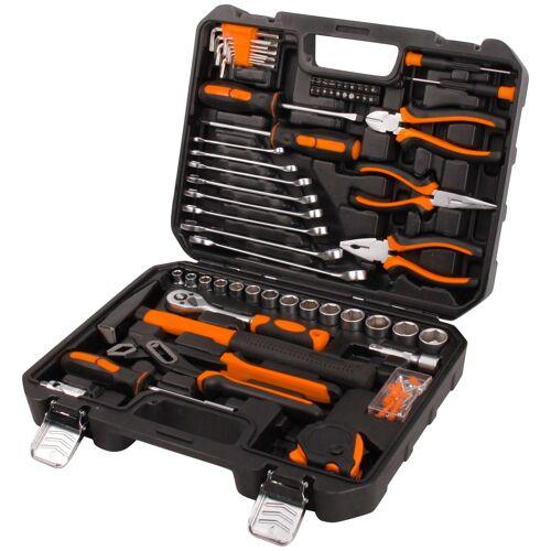 Profiwerk Werkzeugset, (148 St.), befüllter Werkzeugkoffer 33.5 cm x 12 schwarz Werkzeugset Werkzeug Maschinen