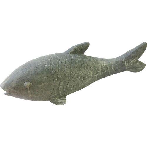 locker Dekofigur Fisch B/H: 65 cm x 22 grau Gartenfiguren Gartendekoration Gartenmöbel Gartendeko