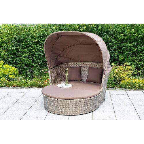 MERXX Loungebett Neapel B/H/T: 111 cm x 85 136 grau Lounge-Gartenmöbel Gartenmöbel Gartendeko