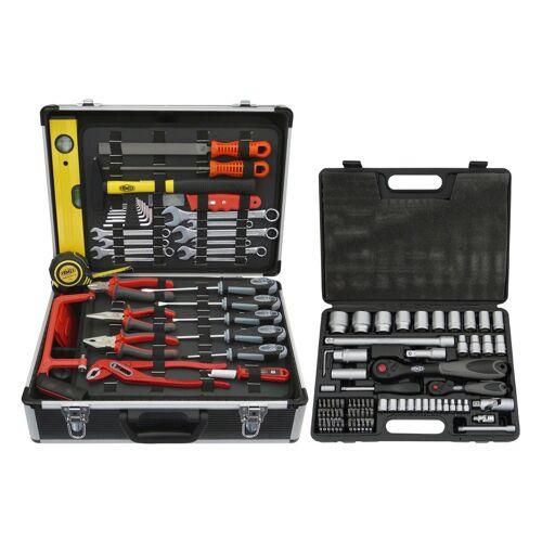 FAMEX Werkzeugset 744 FX-48, (Set, 159 St.) 45,5 x 35,5 16 cm schwarz Werkzeugkoffer Werkzeug Maschinen