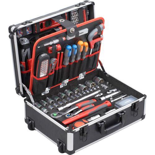 meister Werkzeugset, (Set, 156 St.) 35 x 46 19 cm grau Werkzeugset Werkzeugkoffer Werkzeug Maschinen
