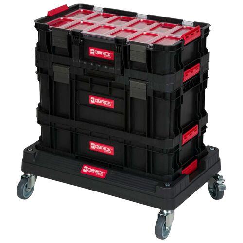 Kreher Werkzeugtrolley, (Set, 4 St.), 3 Boxen, 1 Trolley B/H/T: 60 cm x 63 40 schwarz Werkzeugtrolley Werkzeugkoffer Werkzeug Maschinen