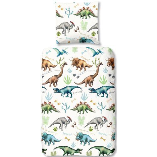 good morning Kinderbettwäsche Dino, mit Dinos B/L: 135 cm x 200 (1 St.), 80 Renforcé weiß Bettwäsche nach Größe Bettwäsche, Bettlaken und Betttücher