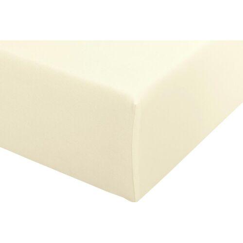 Spannbettlaken B/L: 90-100 cm x 190-220 beige Bettlaken Betttücher Bettwäsche, und